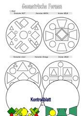 Male die geometrischen Formen richtig aus!