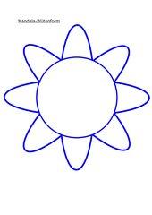 Mandala in Blütenform