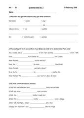 Grammatiktest Unit 1-2 english G 2000