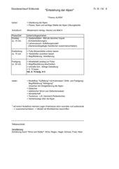 Entstehung der Alpen - Unterrichtsskizze
