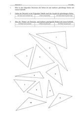 Dreiecke 2. Stunde allgemeinen gleichschenklig und gleichseitiges Dreieck