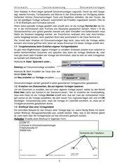 Dokumentvorlage für Geschäftsbrief