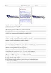 AW - Test zum Thema Werbung (Astra-Plakat)