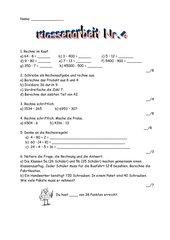 Klassenarbeit Multiplikation und Division