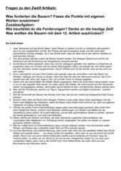 Bauernkriege 1525 - Forderungen der Bauern - 12 Artikel