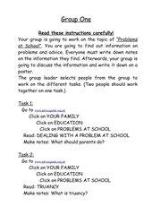 Group work School life