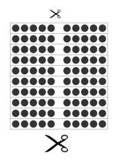 Arbeitsblatt zum Ausschneiden (Punktestreifen, Hunderterfeld)