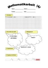 Klassenarbeit - Mathematik - 4. Klasse