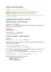 Die Satzarten