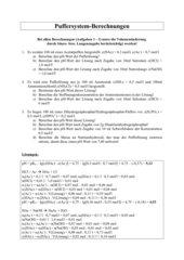 Übungsblätter mit Rechenaufgaben Chemie Klasse 11
