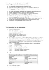 Gruppenarbeit zu Goethes