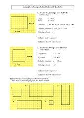 Umfangsberechnungen bei Rechtecken und Quadraten