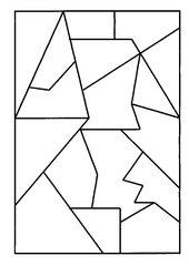 Puzzlevorlagen für ein Bilderpuzzle