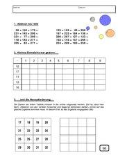 Addition - Multiplikation - Logik (Knobelaufgabe) bis 1000 mit Lösungen