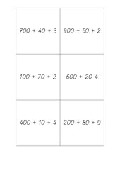 Quartett zur Einführung in den Zahlenraum bis 1000