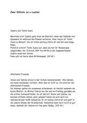 Zwei Diktate zu s-Lauten (71 W./101 W.)  5.Kl.