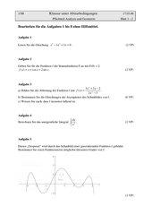 Vorabiturklausur Mathematik BW