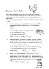 Osterhasenrallye 3.Klasse