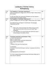 Reihenplanung Landmarks of British History