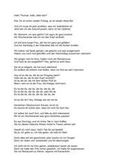 Formatierung Songtext