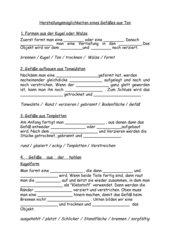 Hauptschule - Arbeitsblatt Klasse 5 - Herstellungsmöglichkeiten eines Gefäßes aus Ton