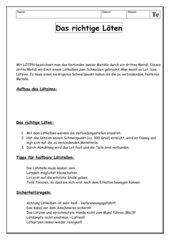 Informationsblatt: Löten