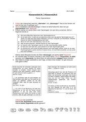 Klassenarbeit Argumentieren Klasse 6
