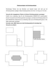 Flächenauslegen mit Einheitsquadraten - Einführung Klasse 5