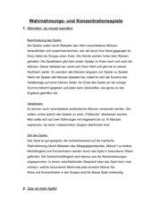 Wahrnehmungs- und Konzentrationsspiele