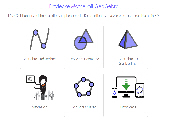 Mathematische Figuren (aus Kreisteilen)