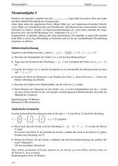 Monatsaufgabe als Klausurvorbereitung: Funktionsuntersuchung sowie Lagebeziehungen bei Ebenenscharen