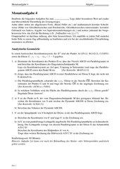 Monatsaufgabe als Klausurvorbereitung: Funktionsuntersuchung und analytische Geometrie (Volumen, Abstand)