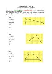 Trigonometrie - 10 Arbeitsblätter