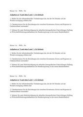 Arbeitstext zum Thema demographischer Wandel / Strukturwandel BRD