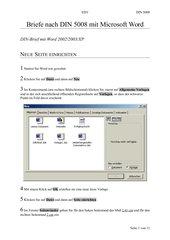 Eine Briefvorlage nach DIN 5008 erstellen