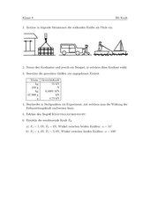 Leistungsüberprüfung Physik zum Thema Kraft