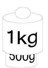 Tafelkärtchen Gewichte/Massen