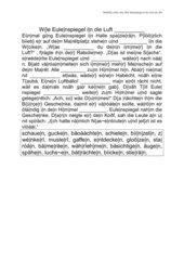 Arbeitsblattvorlage - Wortfeld sehen - Lückentext