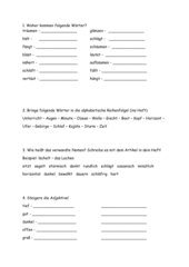 Übungen zu ä und äu (Ableitungen, Einzahl/Mehrzahl, Groß- und Kleinschreibung etc)