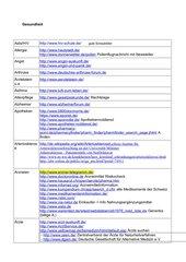 Linkliste rund um die Gesundheit