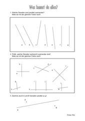 Geometrie in Kl. 3- Was weißt du?