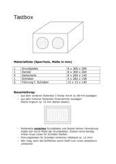 Bauanleitung Tastbox