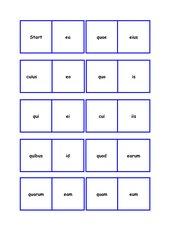 is/ea/id und qui/quae/quod   -Dominospiel-