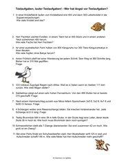 Sachaufgaben für Klasse 3