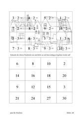 Rechenpuzzle Malfolgen 2-9