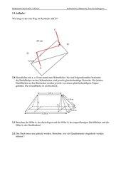 Sätze am rechtwinkligen Dreieck