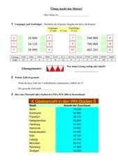 Gemischte Aufgaben für den Matheunterricht
