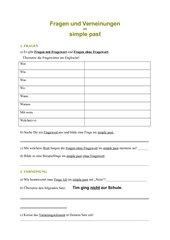 Fragen- und Verneinungslernenzettel