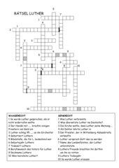 Luther Kreuzworträtsel