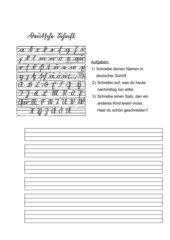 AB zum Ausprobieren der Deutschen Schrift